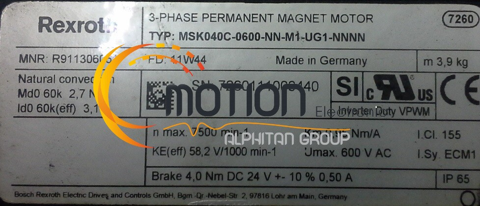 Moteur Indramat Msk040c 0600 Nn M1 Ug1 Nnnn on siemens blower motor catalog