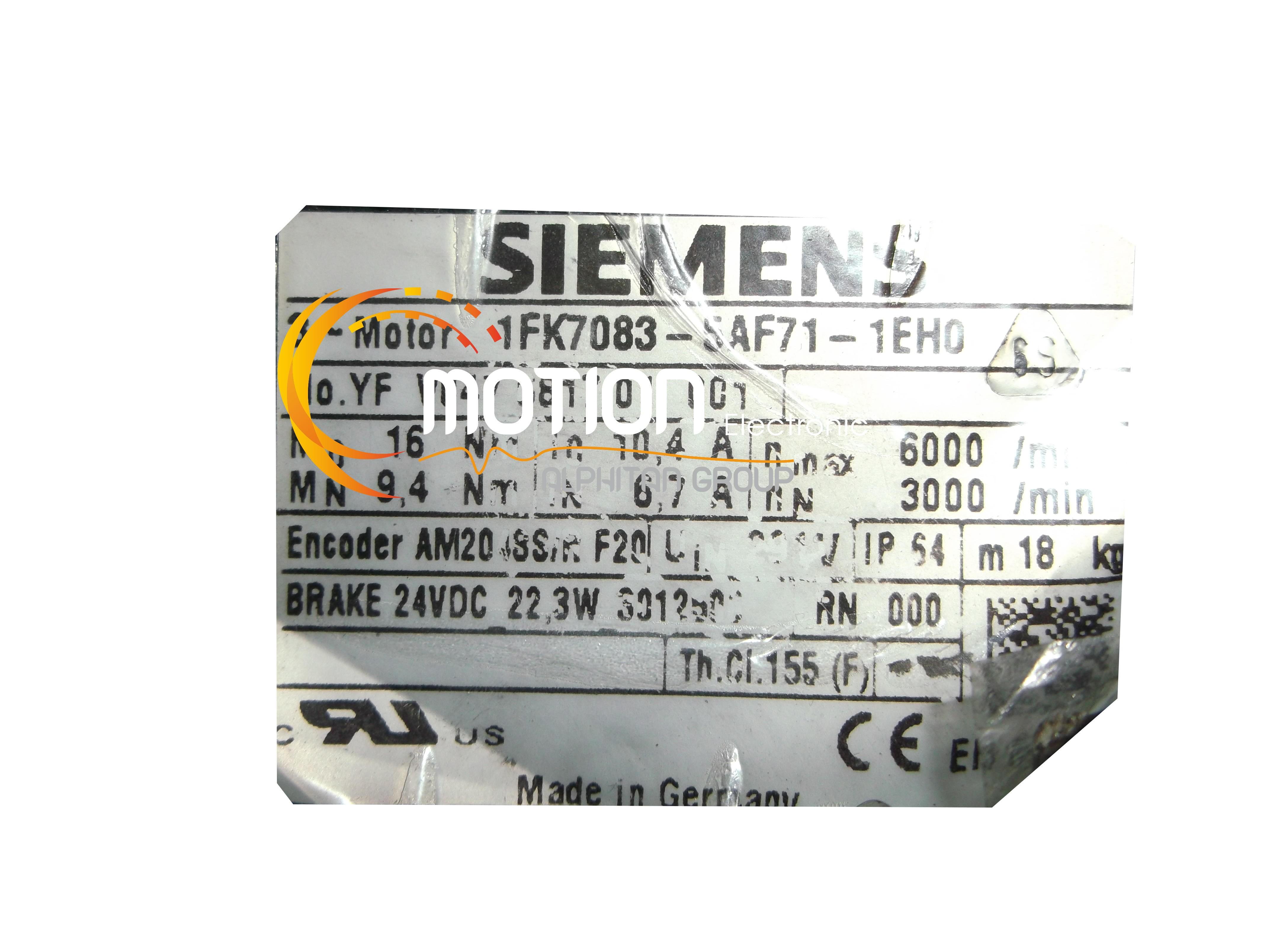 Siemens 1fk7083 5af71 1eh0 motor for Siemens electric motors catalog