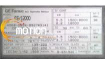 MOTEUR FANUC A06B-0854-B927#3141